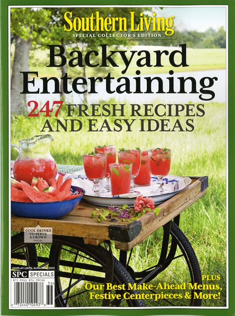 backyard living magazine the magazine southern living magazines and households