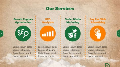 for marketing services template seo services powerpoint template