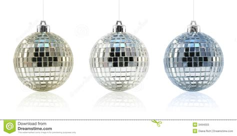 disco ball ornament trio stock photos image 3494003