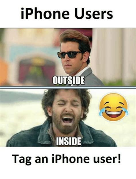 How To Make Memes On Iphone - iphone users outside inside tag an iphone user iphone