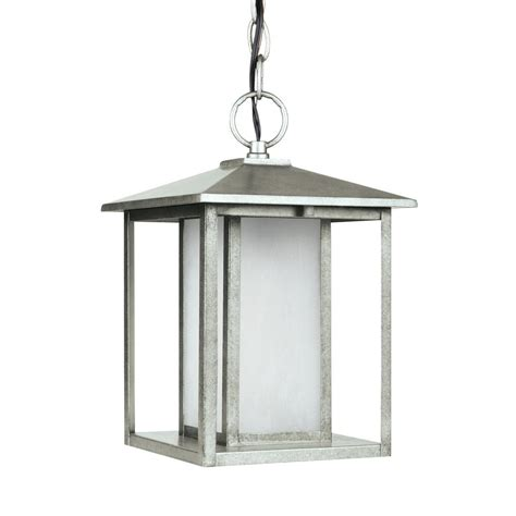Pewter Outdoor Lighting Sea Gull Lighting Hunnington Weathered Pewter 1 Light Outdoor Hanging Pendant 69029en 57 The