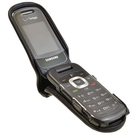 samsung flip phone samsung gusto 3 executive black leather flip phone with ratcheting belt clip