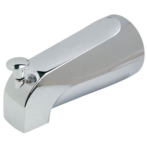 bathtub spouts shop brasscraft chrome tub spout with diverter at lowes com
