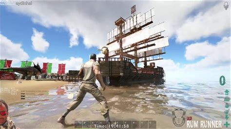 ark boat dock buidling a pirate ship in ark youtube