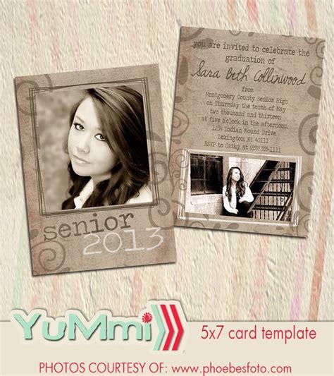 photoshop templates for graduation announcements psd senior graduation invitation card photoshop template