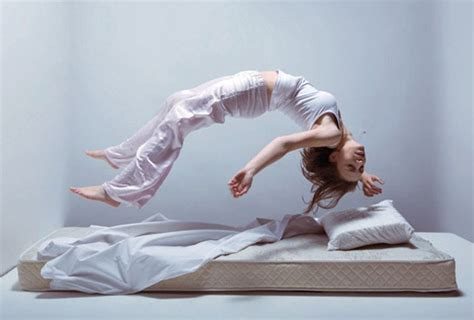 Shooing A Mattress by Bed Jumping Subversive Mid Air Of Mattress Bouncing