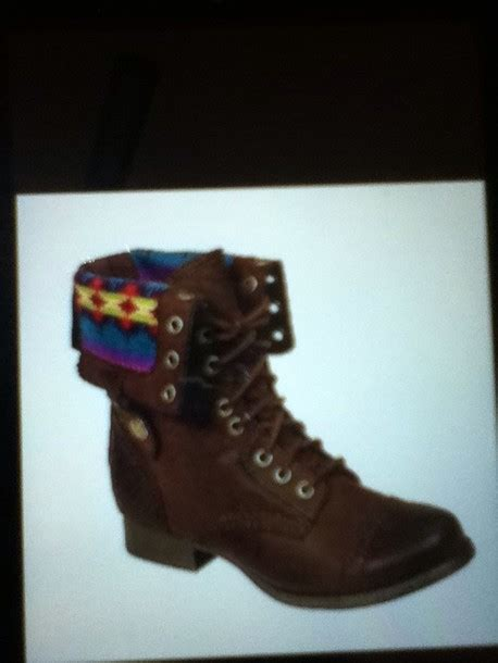 tribal pattern boots shoes combat boots boots tribal print brown combat