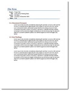 note to file template microsoft office templates elseyworld