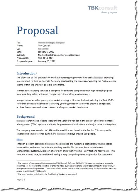 format of good proposal cae proposal tim s free english lesson plans