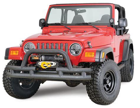 jeep yj winch quadratec qr3 dual tube winch mount bumper with hoop
