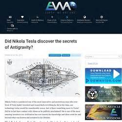 What Did Nikola Tesla Discover Magnetic Anti Gravity Drives And Warp Drives Pearltrees