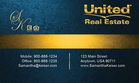 Blue House Realty by Blue United Real Estate Business Card Design 141041
