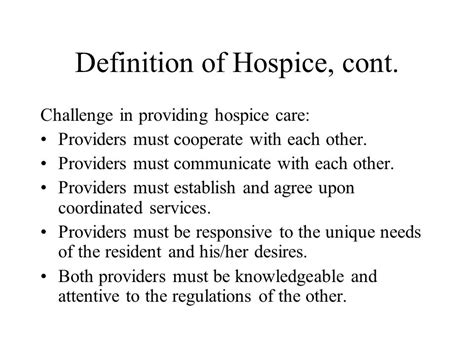 comfort care definition hospice care in the nursing home ppt video online download
