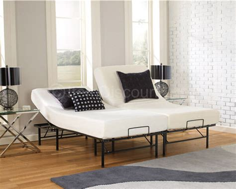 adjustable metal bed frame split posture incline platform king ebay