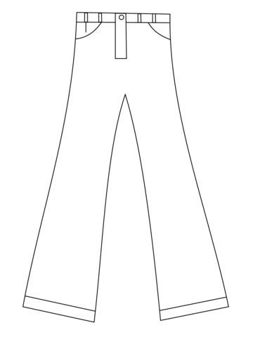 printable pants template pants types fashion coloring coloring pages