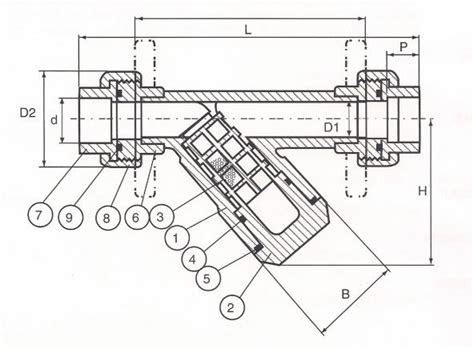 Y Strainer Drawing by Y Sediment Strainers 1 2 Quot To 2 Quot On Tvi