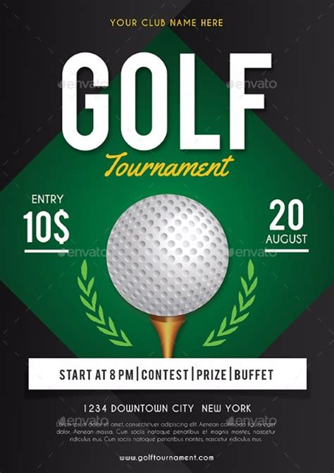 golf tournament flyer templates motorcycle review and