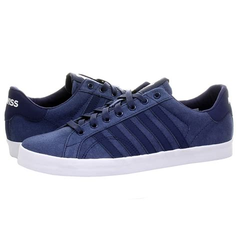 k swiss belmont so t hvy canvas navy blue s sneakers
