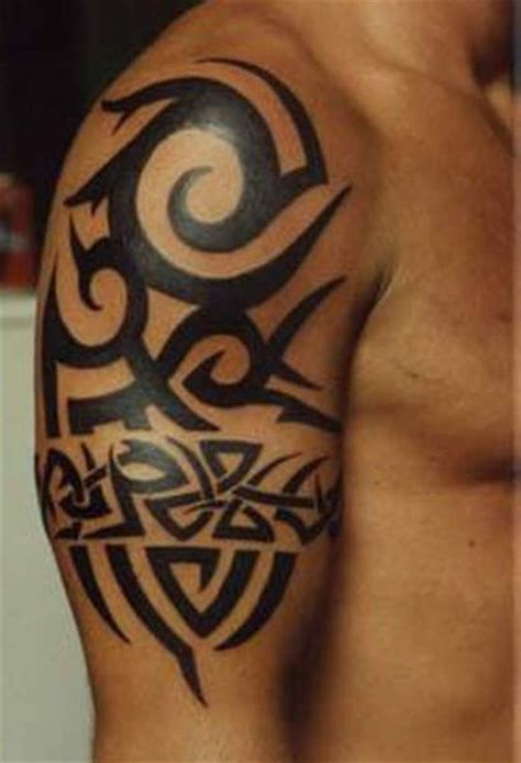 tribal bicep tattoo design ideas for arm tribal design for