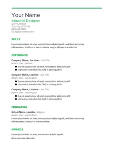 Curriculum Vitae Template Docs