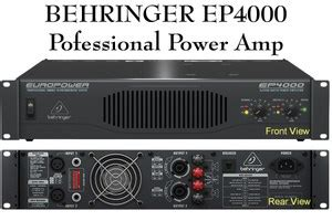 Power Lifier Behringer Ep4000 behringer europower ep4000 pa lifier metro sound and