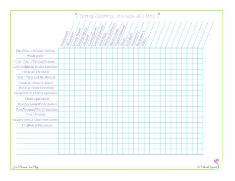 printable house cleaning checklist template best photos of blank house cleaning checklist free