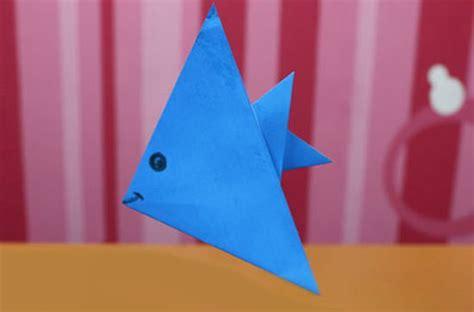 Paper Folding For Kindergarten - como fazer peixinho de origami
