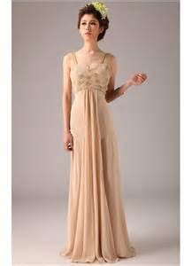 chiffon straps champagne colored wedding dresses