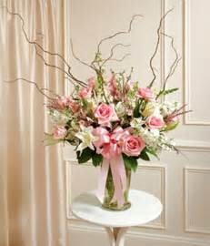 pink white large sympathy vase arrangement at from you