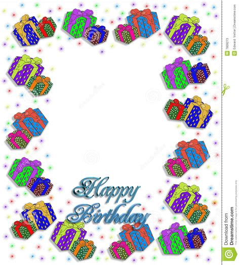 Design For Birthday Cards Borders Birthday Presents Border Illustration Stock Photos Image