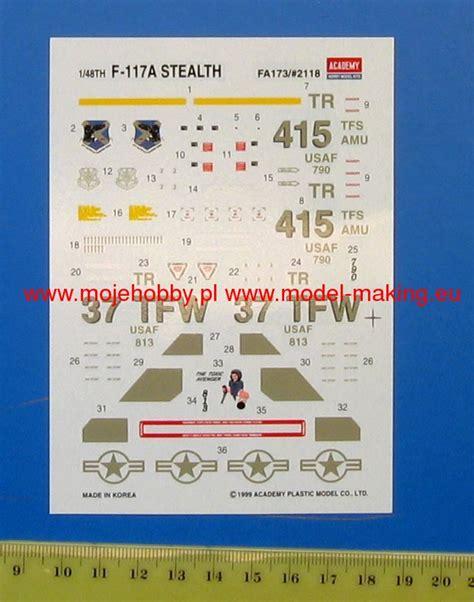 Academy 1 48 F 117a 12265 Nib f 117a academy 12265