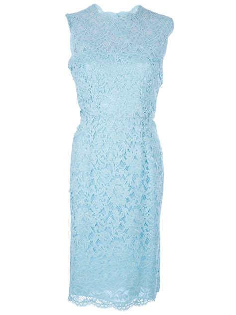 Blue Lace Dress valentino lace dress in blue lyst