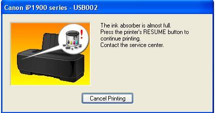 panduan manual cara mereset printer canon ip1980 manual cara memperbaiki printer canon ip1980 quot ink absorber is