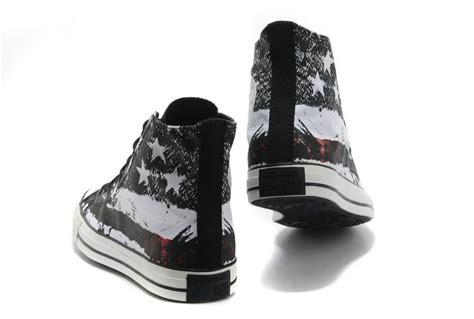 White Converse Cool Or Trendy by Cool Converse American Flag High Tops Black White