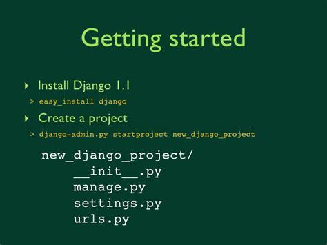 django creating urls introduction to django