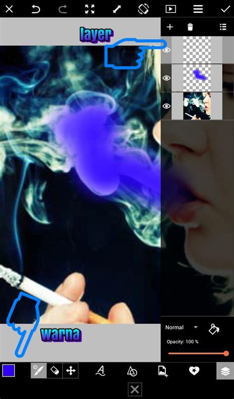 cara edit foto asap warna warni cara edit foto asap rokok berwarna dengan picsart