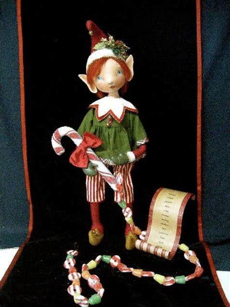 christmas elf dolls memes pixie cloth doll original handpainted ooak christmas