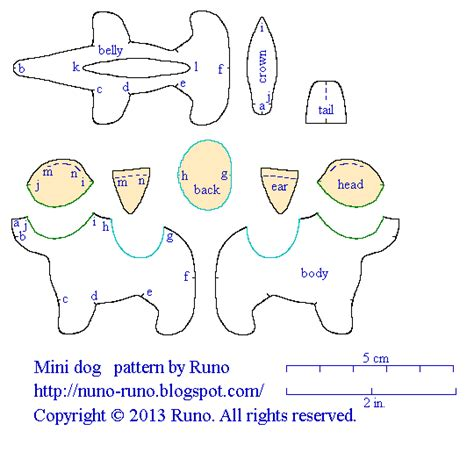 pattern for felt dog ears nuno life mini dog