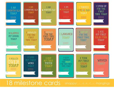 baby milestone card template baby s year milestone cards baby stuff