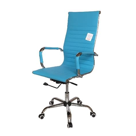 Sky Blue Chair by Office Chairs Eames Style High Back Ribbed Executive