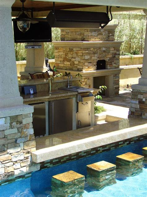 outdoor kitchen designs with pool 50 backyard swimming pool ideas ultimate home ideas