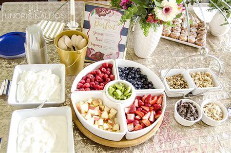 food ideas for bridal shower brunch bridal shower brunch yogurt parfait bar unoriginal