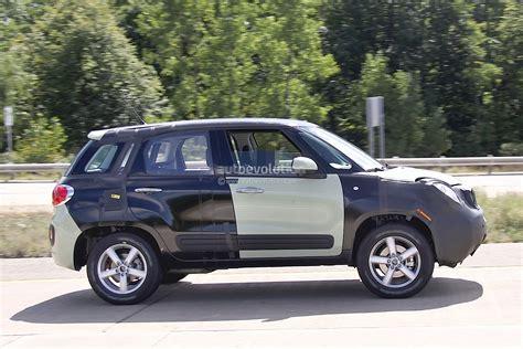 suv jeep spyshots 2015 jeep b suv fiat 500x test mule autoevolution