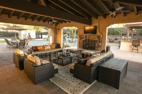 backyard living room cabanas outdoor living spaces gallery western outdoor design and build serving san