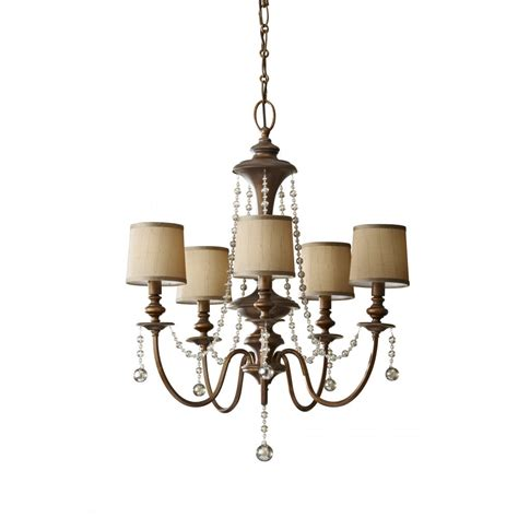Chandelier With Shades Elstead Lighting Feiss Clarissa 5 Light Chandelier With
