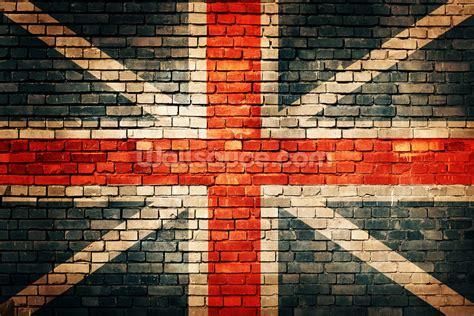 How To Do A Wall Mural union jack on old brick wallpaper wall mural wallsauce usa
