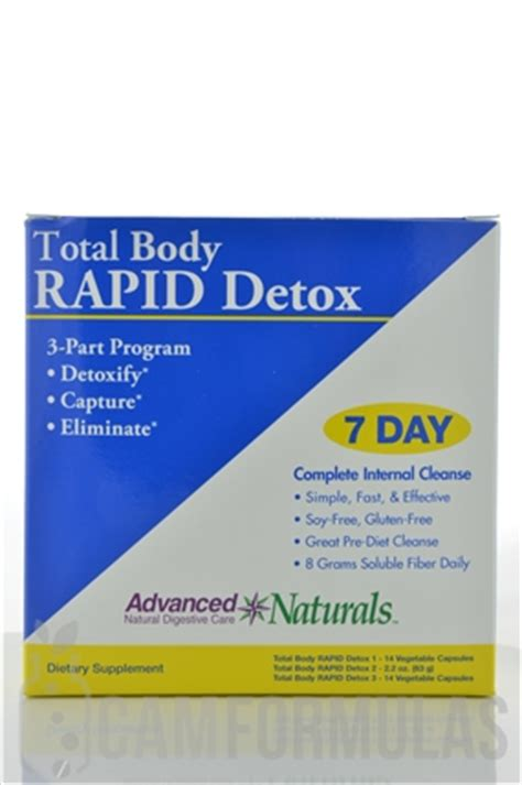 Rapid Detox At Home by Total Rapid Detox 3 Part Kit Advanced Naturals