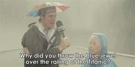 raining jim carrey gif find share  giphy