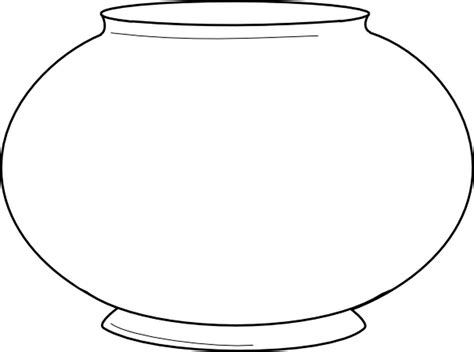 fish bowl cutout template fish bowl coloring page printable coloring home