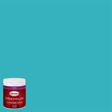 glidden premium 8 oz hdgb28d splash of teal eggshell interior paint with primer tester